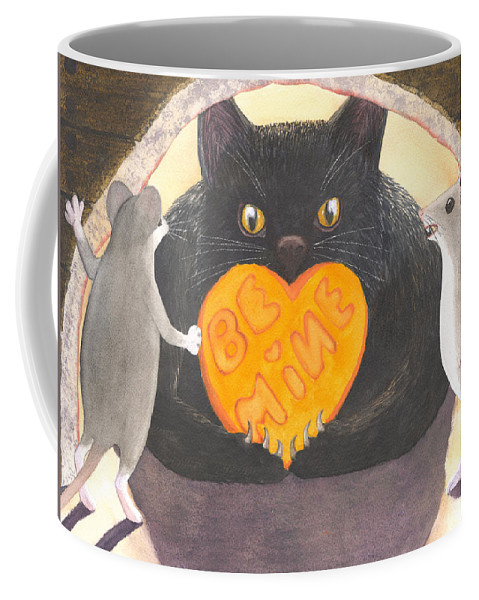 Cat Coffee Mug featuring the painting Be Mine by Catherine G McElroy