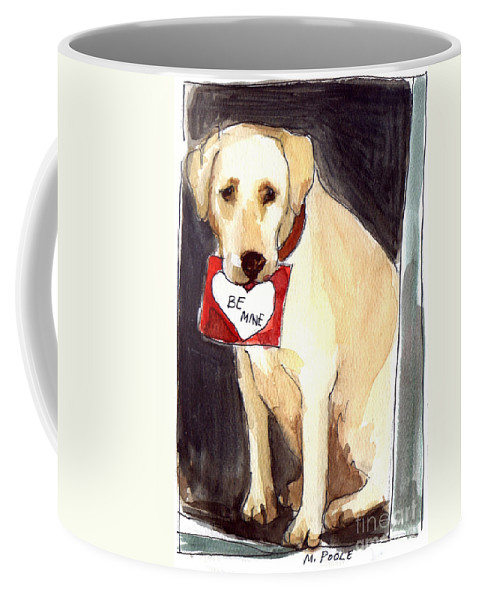 A Heart Felt Message! Coffee Mug featuring the painting Be Mine by Molly Poole
