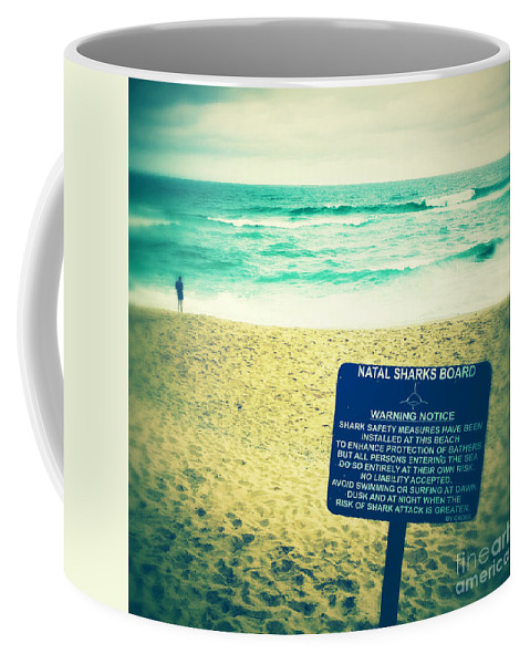 Square Coffee Mug featuring the photograph Beach 5 by Neil Overy