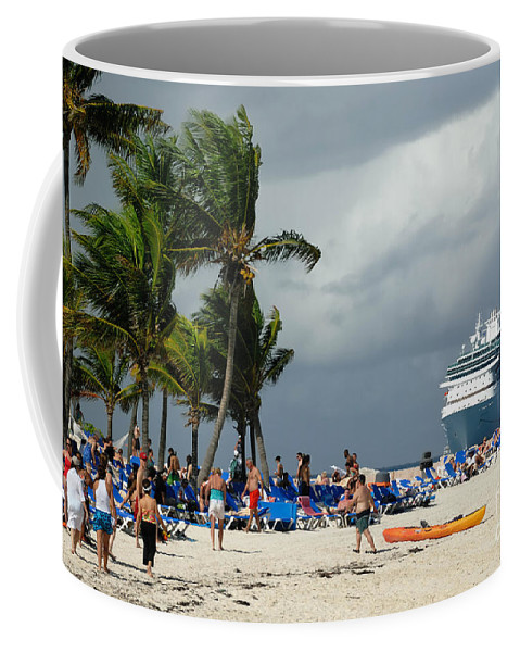 Bahamas Coffee Mug featuring the photograph Beach At Coco Cay by Amy Cicconi