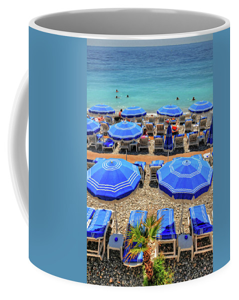 Nice Coffee Mug featuring the photograph Beach At Nice France by Dave Mills