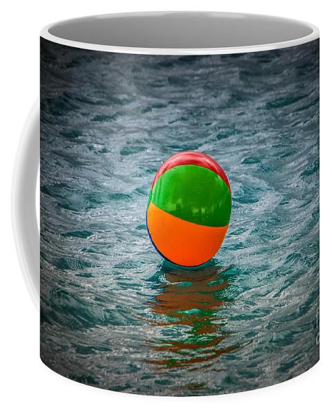 Beach Ball Coffee Mug featuring the photograph Beach Ball Float by Grace Grogan