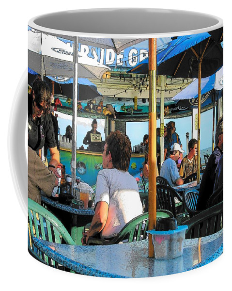 Still Life Coffee Mug featuring the photograph Beach Bar by Strangefire Art    Scylla Liscombe