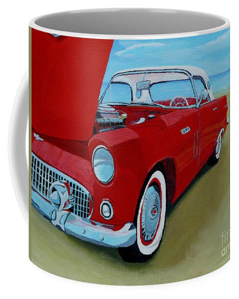 Car Coffee Mug featuring the painting Thunder Bird by Anthony Dunphy