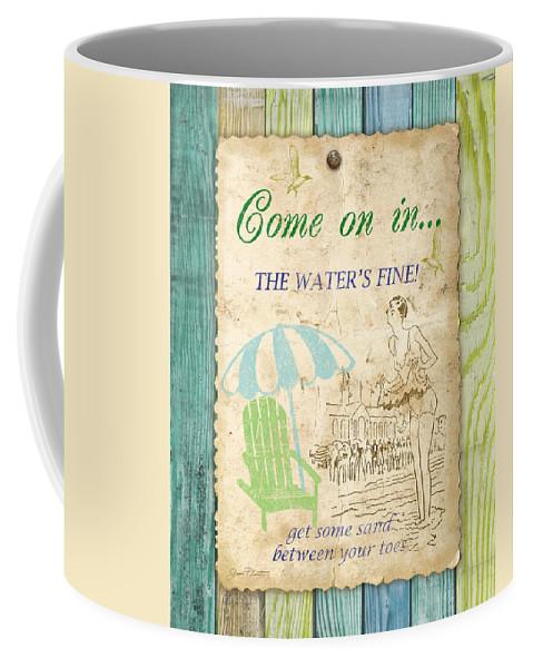 Digital Art Coffee Mug featuring the digital art Beach Notes-b by Jean Plout