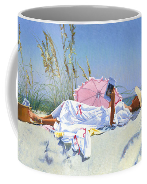 Impressionist Coffee Mug featuring the painting Beach Recliner by Candace Lovely
