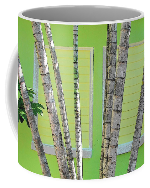 Landscape Coffee Mug featuring the photograph Beach Cabana by Strangefire Art    Scylla Liscombe