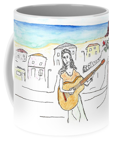 Jim Taylor Coffee Mug featuring the painting Beach Town by Jim Taylor