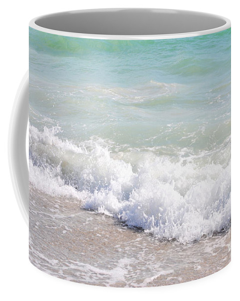 Ocean Coffee Mug featuring the photograph Surf And Sand by Margie Amberge