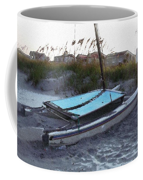 Boat Coffee Mug featuring the photograph Beached by Wendy Gertz