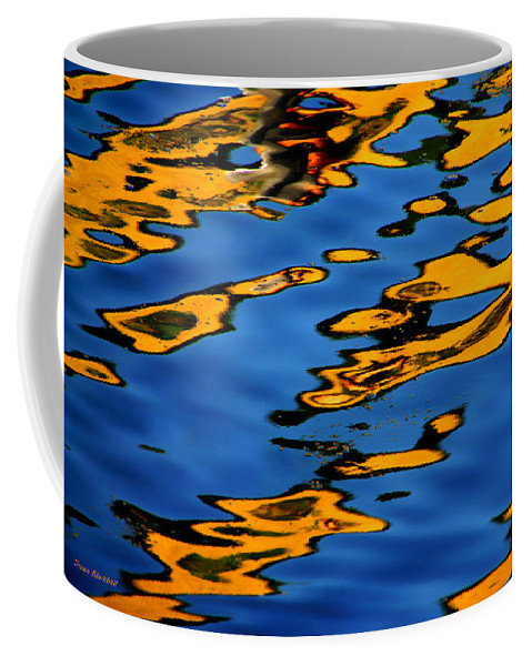 Abstract Water Coffee Mug featuring the photograph Beagles At Play by Donna Blackhall