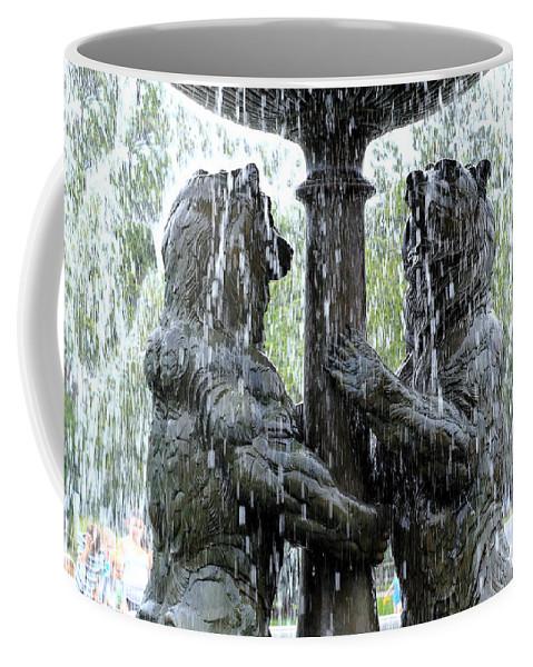 Bear Fountain Coffee Mug featuring the photograph Bear Fountain by Scott Hill