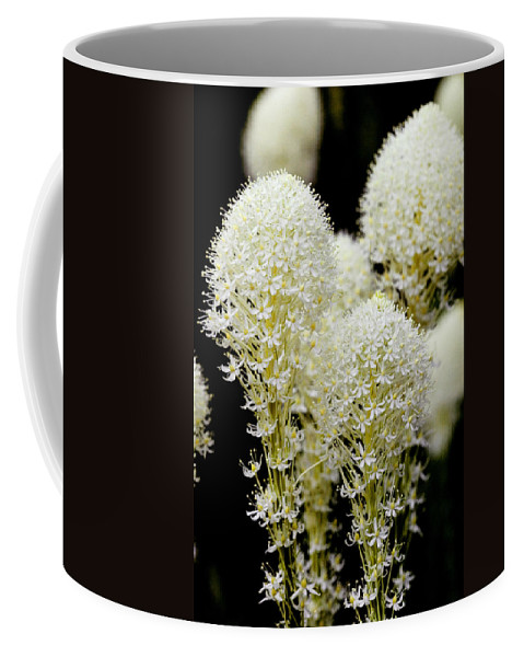 Glacier National Park Coffee Mug featuring the photograph Bear Grass Flowers Glacier National Park by Rich Franco