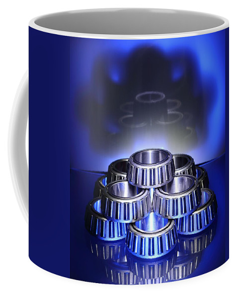 Bearing Coffee Mug featuring the photograph Bearings In Blue by David Andersen