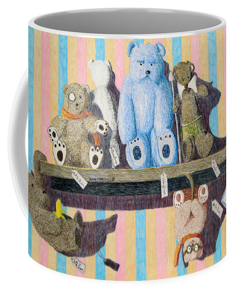 Still Life Coffee Mug featuring the painting Bearly There by A Robert Malcom