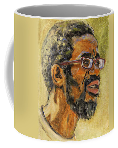 Beat Keeper Coffee Mug featuring the painting Beat Keep II by Xueling Zou
