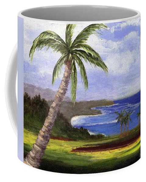 Palm Tree Coffee Mug featuring the painting Beautiful Kauai by Jamie Frier