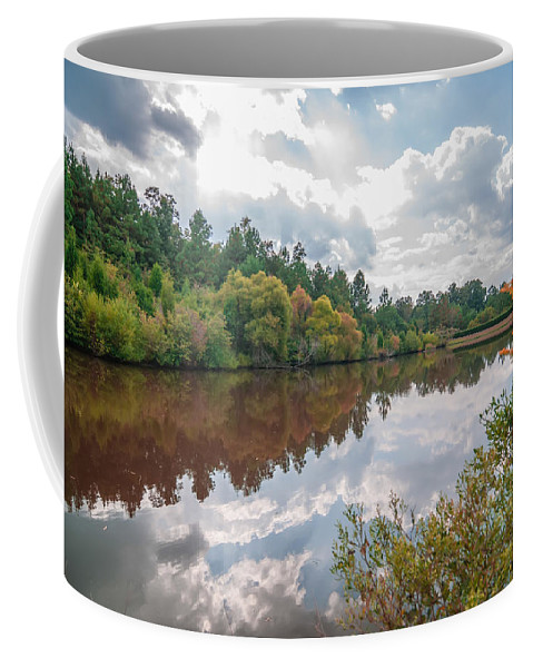 Autumn Coffee Mug featuring the photograph Beautiful Lake Reflections by Alex Grichenko