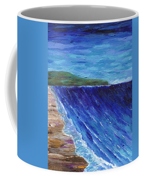 Seascape Coffee Mug featuring the painting Beautiful Palos Verdes 2 by Jamie Frier