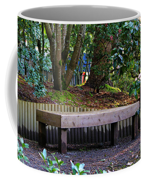 Yashiro Garden Coffee Mug featuring the photograph Beautiful Respite by Jeanette C Landstrom
