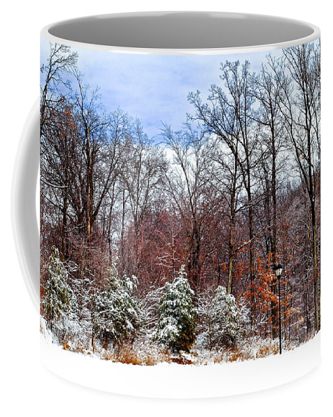 Snow Coffee Mug featuring the photograph Beautiful Scenery by Frozen in Time Fine Art Photography