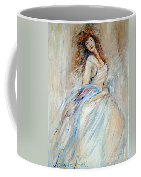 Contemporary Art Coffee Mug featuring the painting Beautiful by Silvana Abel