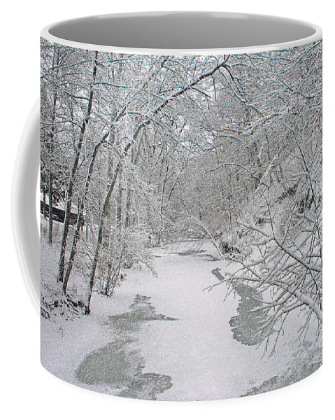 Snow Coffee Mug featuring the digital art Beautiful Winter by Kay Novy