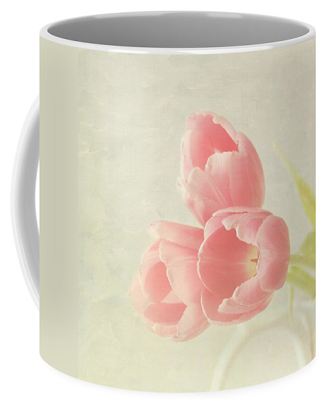 Pink Flower Coffee Mug featuring the photograph Beauty In Three by Kim Hojnacki