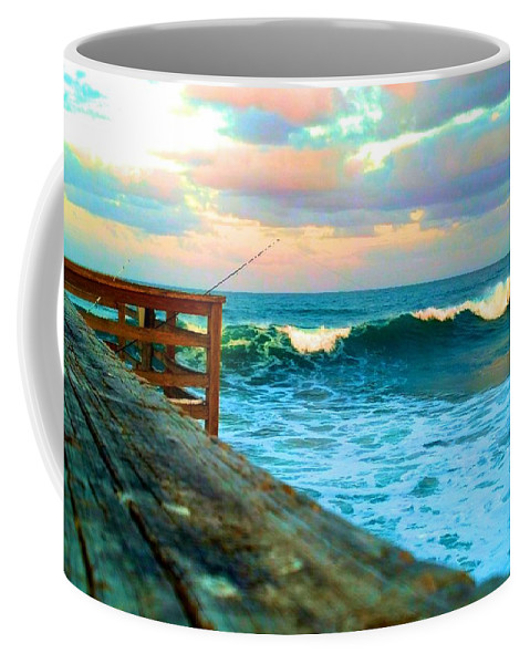 Flagler Pier Coffee Mug featuring the photograph Beauty Of The Pier by Tyson Kinnison