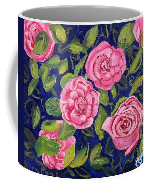 Roses Coffee Mug featuring the painting Bed Of Roses by Caroline Street