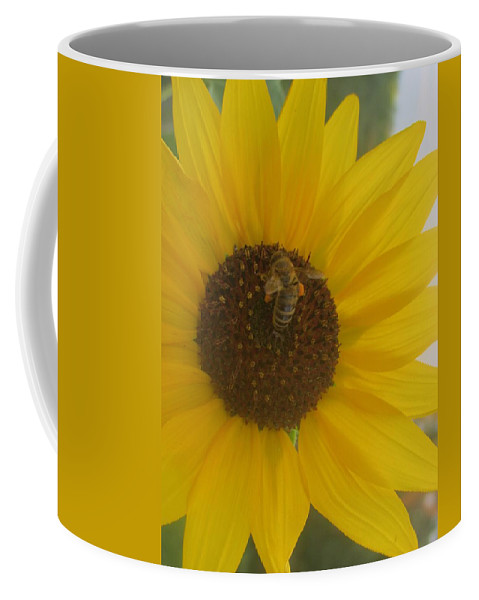Nature Coffee Mug featuring the photograph Bee Happy by Jewell McChesney