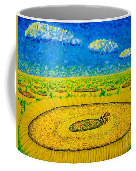 Sunflowers Coffee Mug featuring the painting Bee by Viktor Lazarev