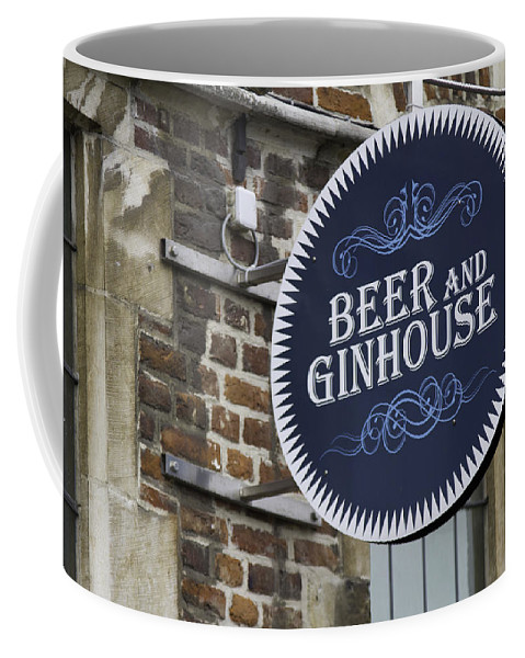 Sign Coffee Mug featuring the photograph Beer And Ginhouse by David Freuthal
