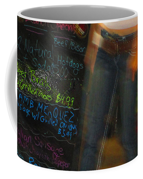 Abstract Coffee Mug featuring the photograph Beer Brat by Dart and Suze Humeston
