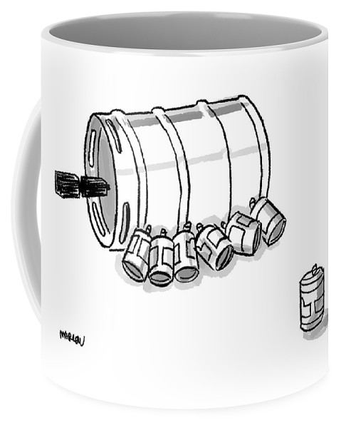 Beer Cans Nursing At A Keg Coffee Mug