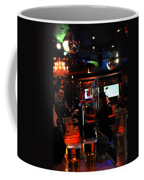 Beer Coffee Mug featuring the photograph Beer Night by Gina Dsgn