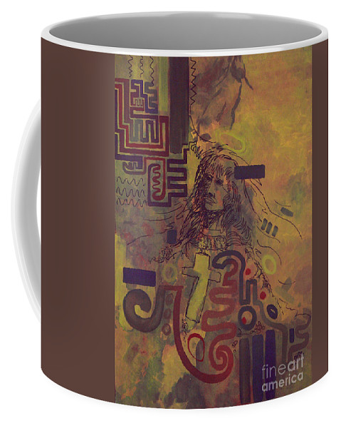 Abstract Coffee Mug featuring the painting Before And After by Tonya Henderson