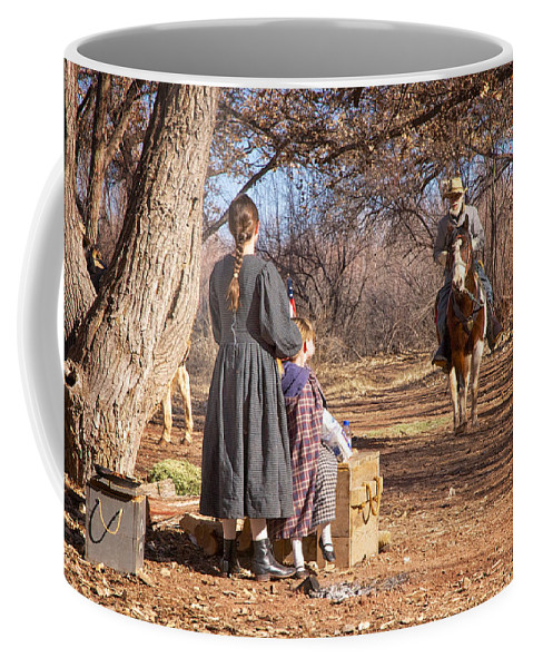 Civil War Reenactment Coffee Mug featuring the photograph Before The Battle For Socorro by Mary Lee Dereske