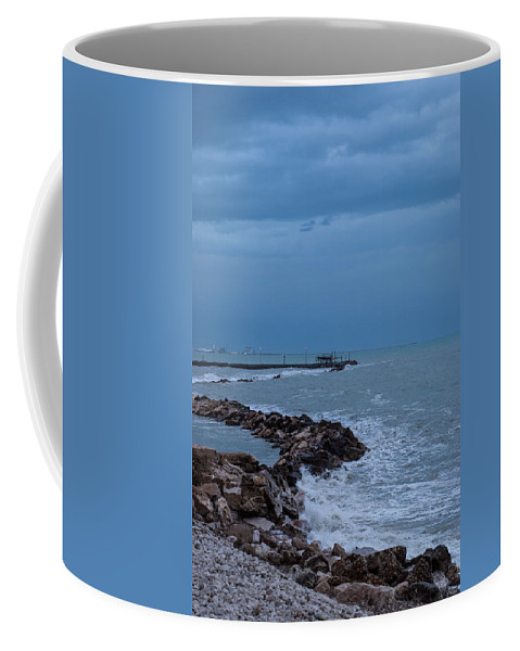 Trabocco Coffee Mug featuring the photograph Before The Storm by Andrea Mazzocchetti