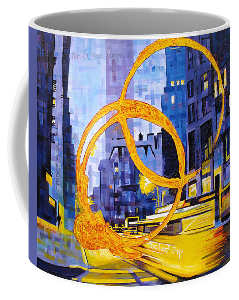 Dave Matthews Coffee Mug featuring the painting Before These Crowded Streets by Joshua Morton