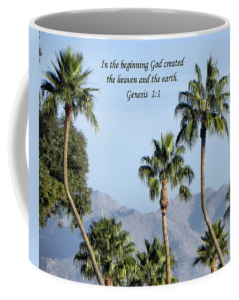 Palm Trees Coffee Mug featuring the photograph Beginning by Deb Halloran