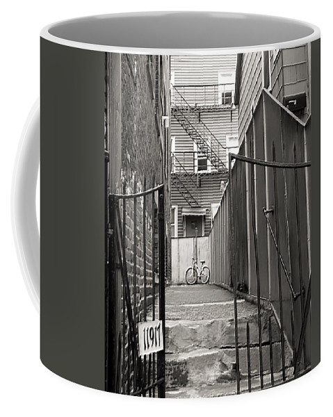 Cleveland Coffee Mug featuring the photograph Behind The Gates by Wendy Gertz