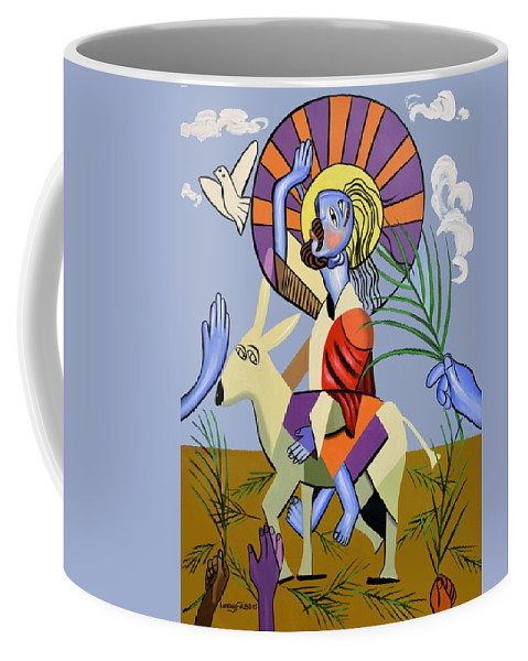 Behold The Lamb Of God Coffee Mug featuring the painting Behold The Lamb Of God by Anthony Falbo