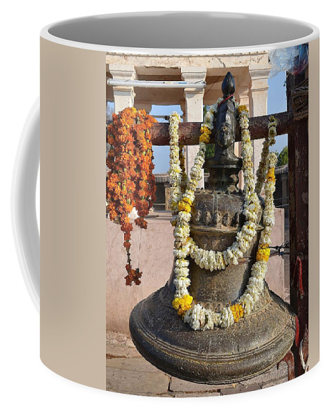 Temple Coffee Mug featuring the photograph Bell At The Temple Of The 64 Yoginis - Jabalpur India by Kim Bemis