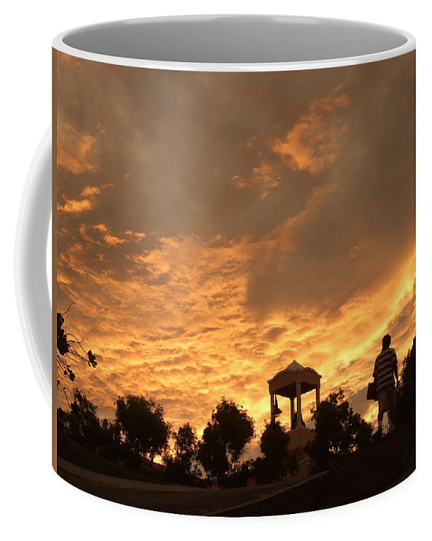 Coffee Mug featuring the photograph Bell Tower At Sunset by Katerina Naumenko