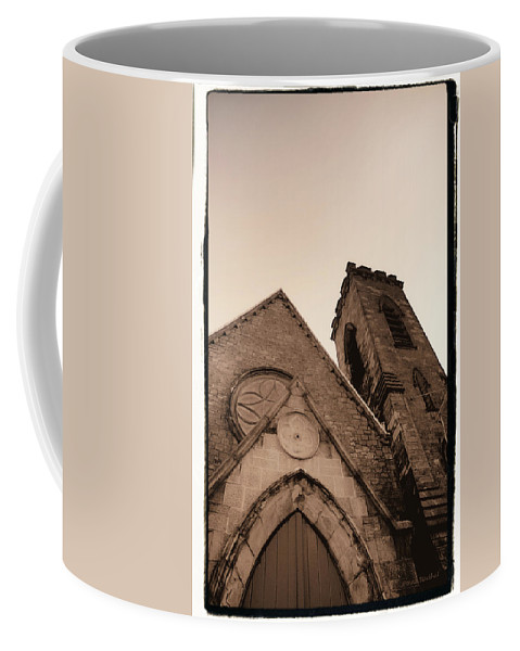 New York Coffee Mug featuring the photograph Bell Tower by Donna Blackhall