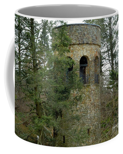 Bell Tower Coffee Mug featuring the digital art Bell Tower by Jeannie Rhode