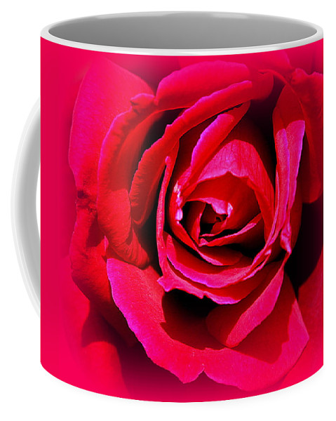 Rose Coffee Mug featuring the photograph Belle Rose Rouge by Greg Thiemeyer