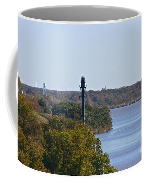 Bellevue Rear Range Lighthouse Coffee Mug featuring the photograph Bellevue Rear Range Lighthouse by Lori Amway