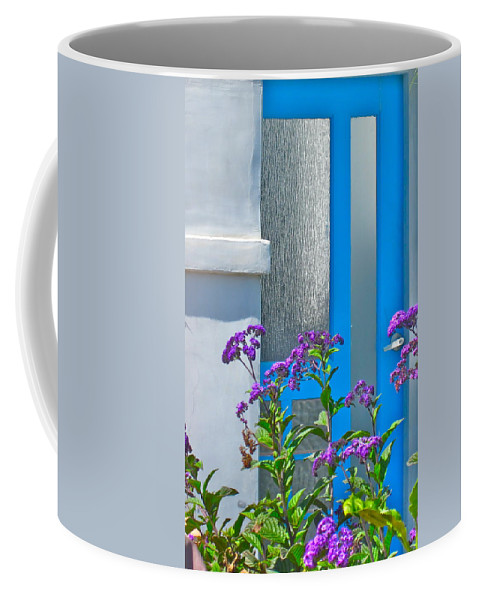 Photograph Of Door Coffee Mug featuring the photograph Belmont Shore Blue by Gwyn Newcombe